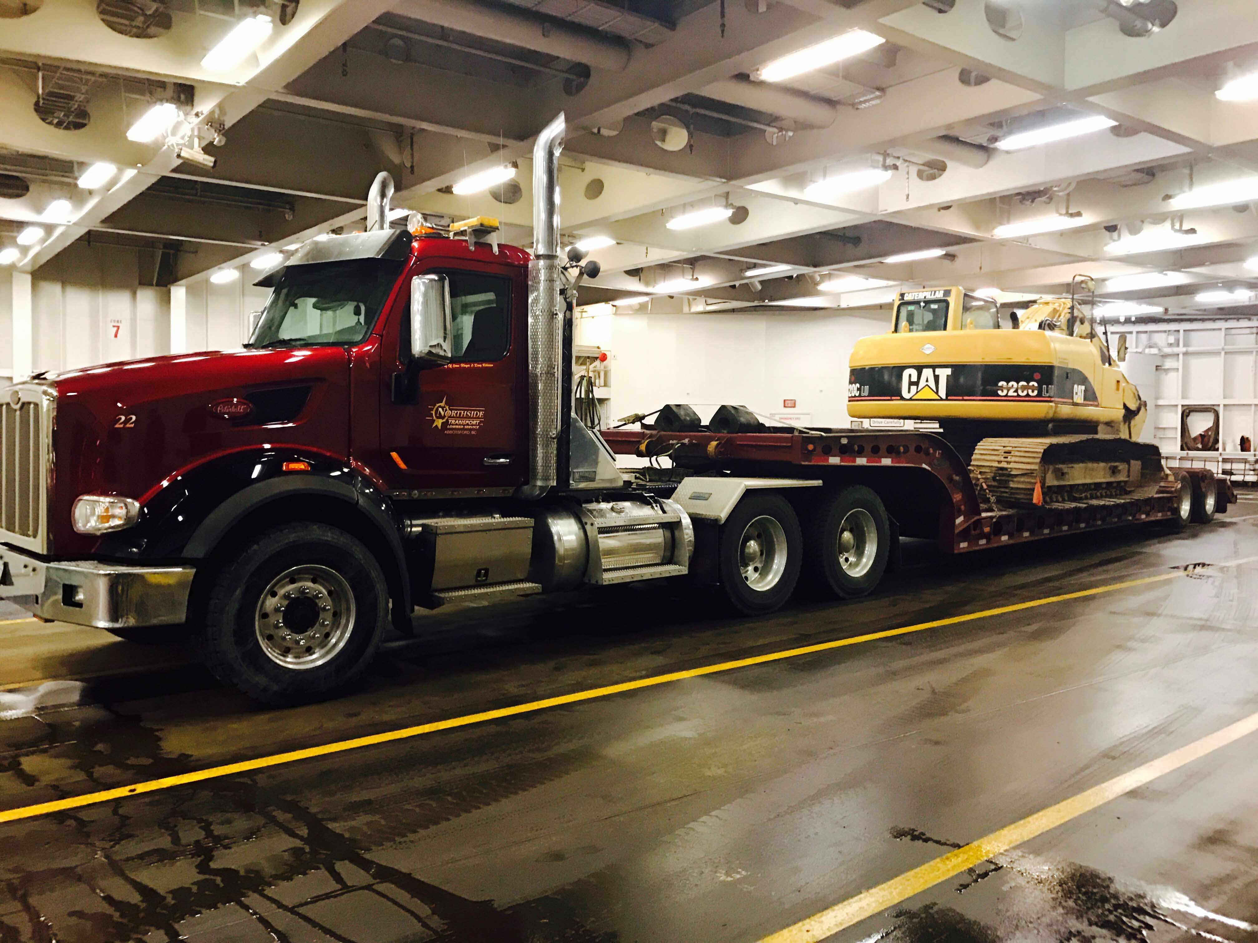 Excavator Transport To Vancouver Island