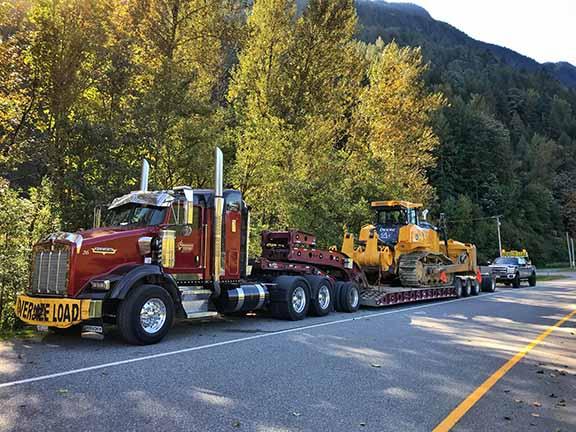 Heavy Equipment Hauling, BC, Alberta, Saskatchewan and the